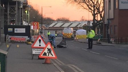 A tent has been erected at the scene of the attack while forensics officers comb the streets for evi