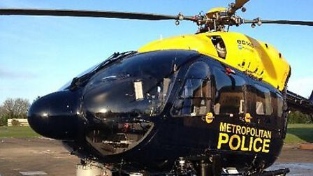 Police helicopter (Pic credit: @NPASLONDON)