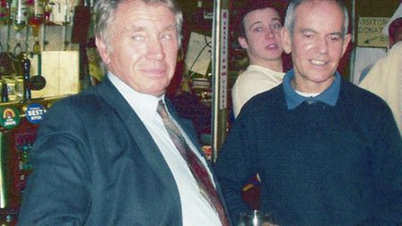 Sir Don McCullin and Terry Silvester pictured at a reunion event at Finsbury Park Conservative Club