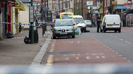 Police at the scene of the attack in Willesden (Pic: Jonathan Goldberg)