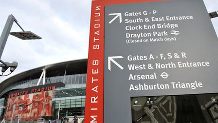Parking is an issue outside Emirates Stadium on Arsenal matchdays. Picture: Daniel Hambury/EMPICS SP