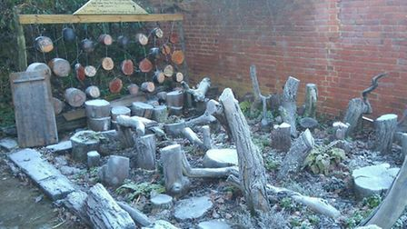 A stumpery is a garden feature similar to a rockery but made from parts of dead trees.