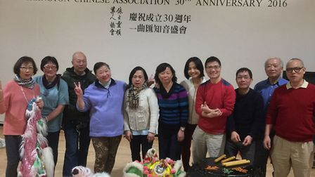 Staff and service users at Islington Chinese Association. Picture: James Morris