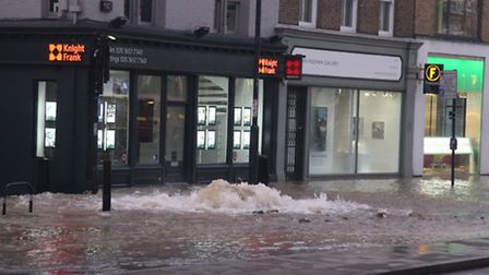 Devastation caused by the flooding in Upper Street.