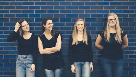 Lydia Gosnell (second from right) with recorder quartet Palisander