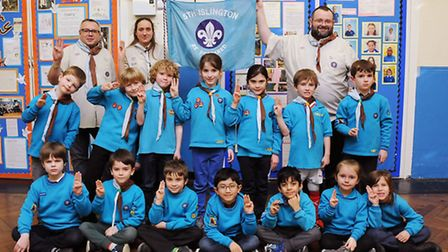 The 5th islington Beavers. Leaders from left are Daniel Gooding, Mari Timoney, David Evans. Picture: