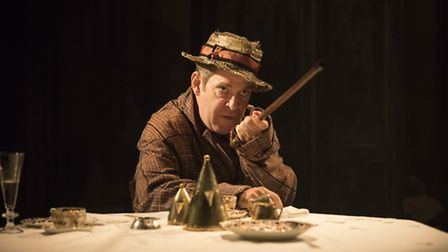 Tom Hollander (Henry Carr) in Travesties. Picture: Johan Persson