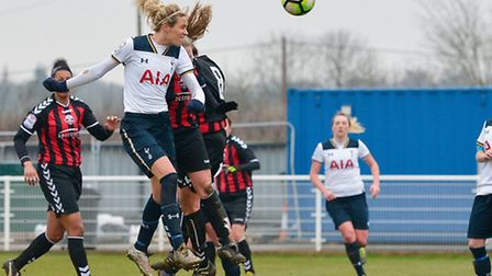 Tottenham Ladies will go to Arsenal in the fifth round of the SSE Women's FA Cup. Picture: WUSPHOTOG