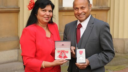 Anjana and Krushnah Appiah, MBE Picture date: Friday 17 February 2017. Picture: Daniel Law/PA