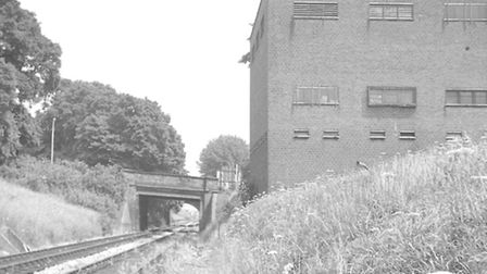 A generating station built to provide power for the Tube trains beside the line at Crouch Hill, pict