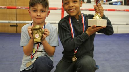 Leon Flanagan and Kaine Khan were named most improved boxer and best boxer of the term in Islington