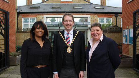 Christine Hung, Deborah Lauder A2Dominion's Advice Plus Coordinator, and Lord Mayor of Westminster