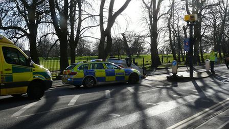 Emergency services were at the scene in Green Lanes. Picture: Chris Lee