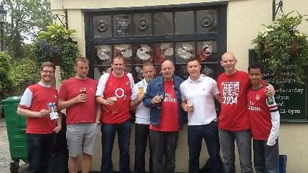 Gooner editor, contributors and mates on FA Cup Final day 2014.