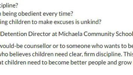"""Michaela Community School is advertising for a """"detention director"""" who is a believer in """"tough love"""