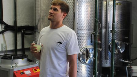 Matthew Armitage in his new brewery.