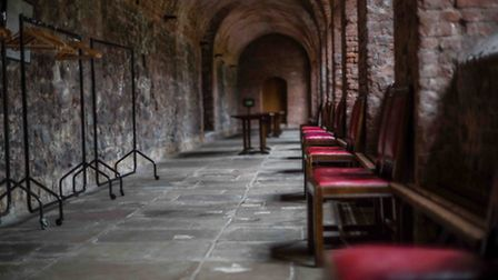Charterhouse School pupils were said to have played football in this corridor, leading to an early v