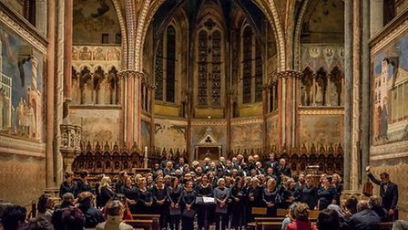 Islington Choral Society on tour in Assisi, Italy