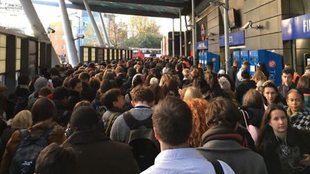 Travel chaos at Finsbury Park station is a regular occurrence in the morning rush-hour. Picture: Dar
