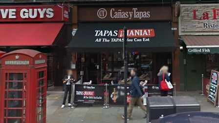 Canas y Tapas in Upper Street. Picture: Google Maps