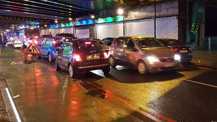 More drivers going the wrong way through the bridge. Picture: @krappyrubsnif