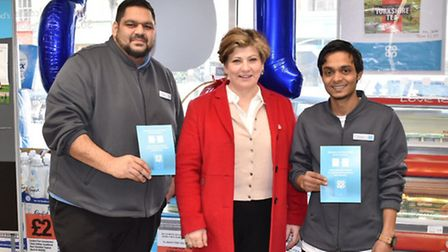 MP for Islington South and Finsbury, Emily Thornberry, popped into the Co-op�s Caledonian Road store