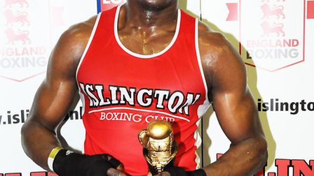 Islington Boxing Club's Sherif Musah was victorious at the club's open show. Picture: DIETER PERRY