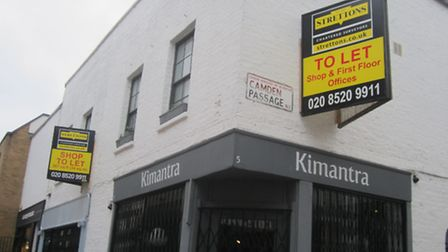 'No more sights like these': a vacant shop in Camden Passage