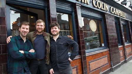 Crusoe Millar, Angus Stevenson and Ross Grady have re-opened the Sir Colin Campbell (Pic credit: Jo
