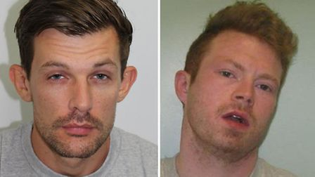 James Whitlock (left) and Matthew Baker escaped from Pentonville last year. Both men have since been