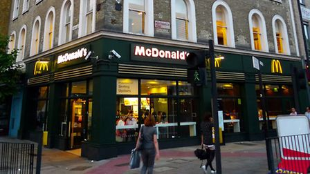 The 27-year-old man collapsed in Pentonville Road's McDonald's branch in the early hours of Wednesda