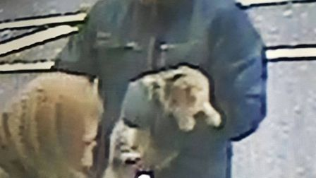 The 'cat-napper' is shown on shop CCTV with Bella under his arm before leaving on a bicycle.