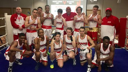 Islington Boxing Club drew 6-6 with Jersey Leonis in a team event on the channel island. Picture: RE