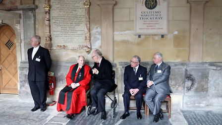 Charterhouse almshouse brothers await the Queen and Duke of Edinburgh. Picture: Chris Jackson/PA