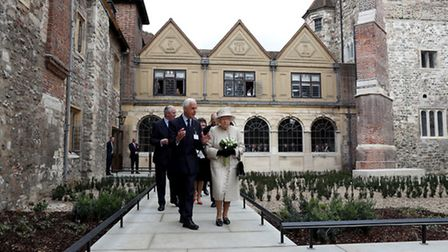 The Queen at the historic Charterhouse in Clerkenwell today. Picture: Chris Jackson/PA
