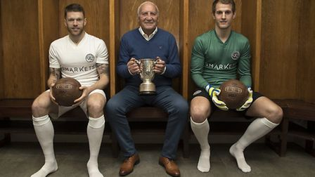 The kits commemorating the 50th anniversary of QPR winning the 1967 League Cup. Picture: BACKPAGEIMA