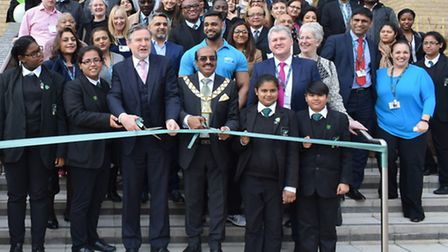 The official opening of Alperton Community School's new building on Ealing Road.