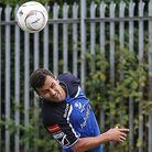 Ahmet Rifat in action for Wingate & Finchley. Picture: MARTIN ADDISON