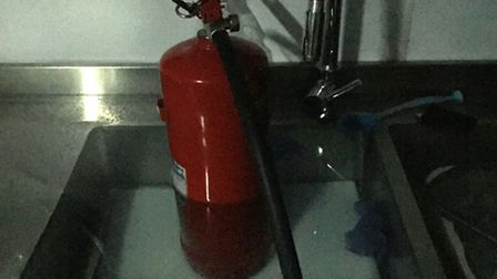 Burglars flooded Little Highness by blocking the sink with a chopping board and fire extinguisher, a