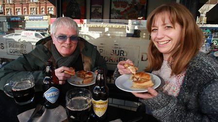 Paul and Nicky Campbell at the current Piebury Corner premises in Holloway Road. Picture: Isabel Inf