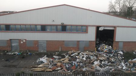 Tonnes of commercial waste is being dumped on the disused industrial estate.
