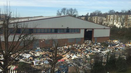 By Saturday morning the site was completely covered in commercial waste.