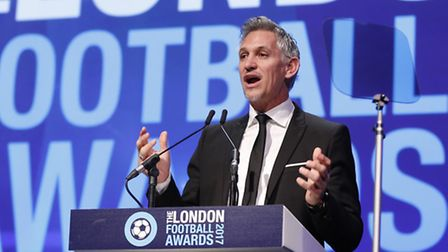 Gary Lineker during the London Football Awards 2017. Picture: REUTERS/JOHN SIBLEY