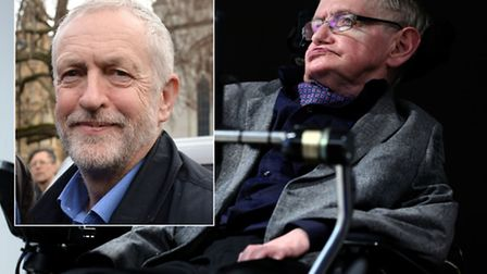 Stephen Hawking called Jeremy Corbyn's leadership of the Labour Party a 'disaster'. Pictures: PA