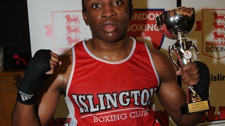 Islington Boxing Club's Lamin Conteh. Picture: DIETER PERRY