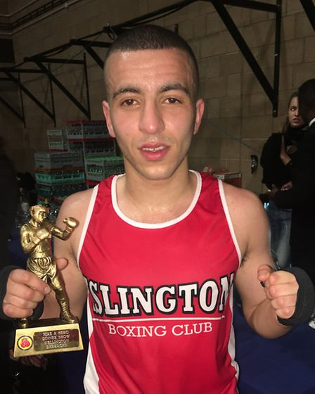 Islington Boxing Club's Mo Gharib. Picture: DIETER PERRY
