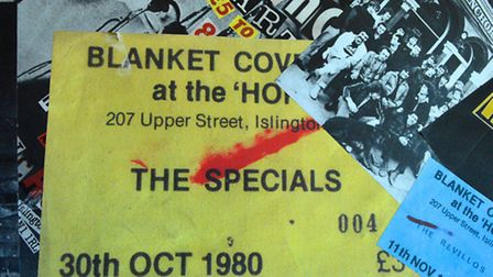 A ticket stub for The Specials. Picture: Polly Hancock