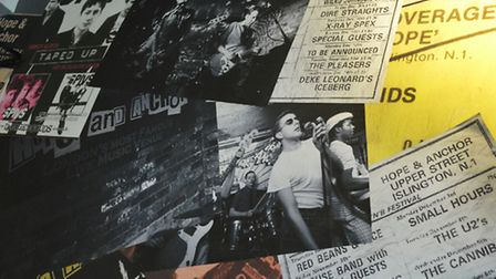The Hope and Anchor's musical history is celebrated in the old posters and decor. Picture: Polly Han