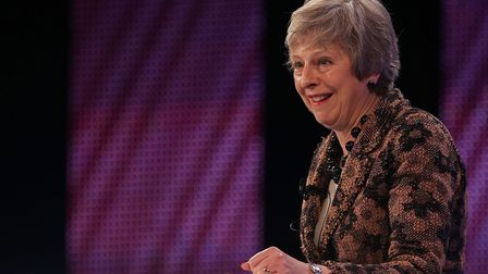 Theresa May addresses delegates at the annual Confederation of British Industry (CBI). Photograph: D