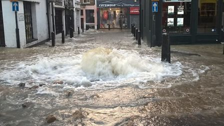 Flooding in Upper Street in December. Picture: London Fire Brigade